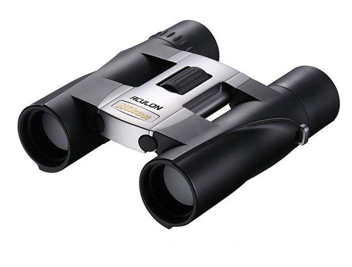 Бинокль Nikon Aculon A30 10x25 (серебристый)