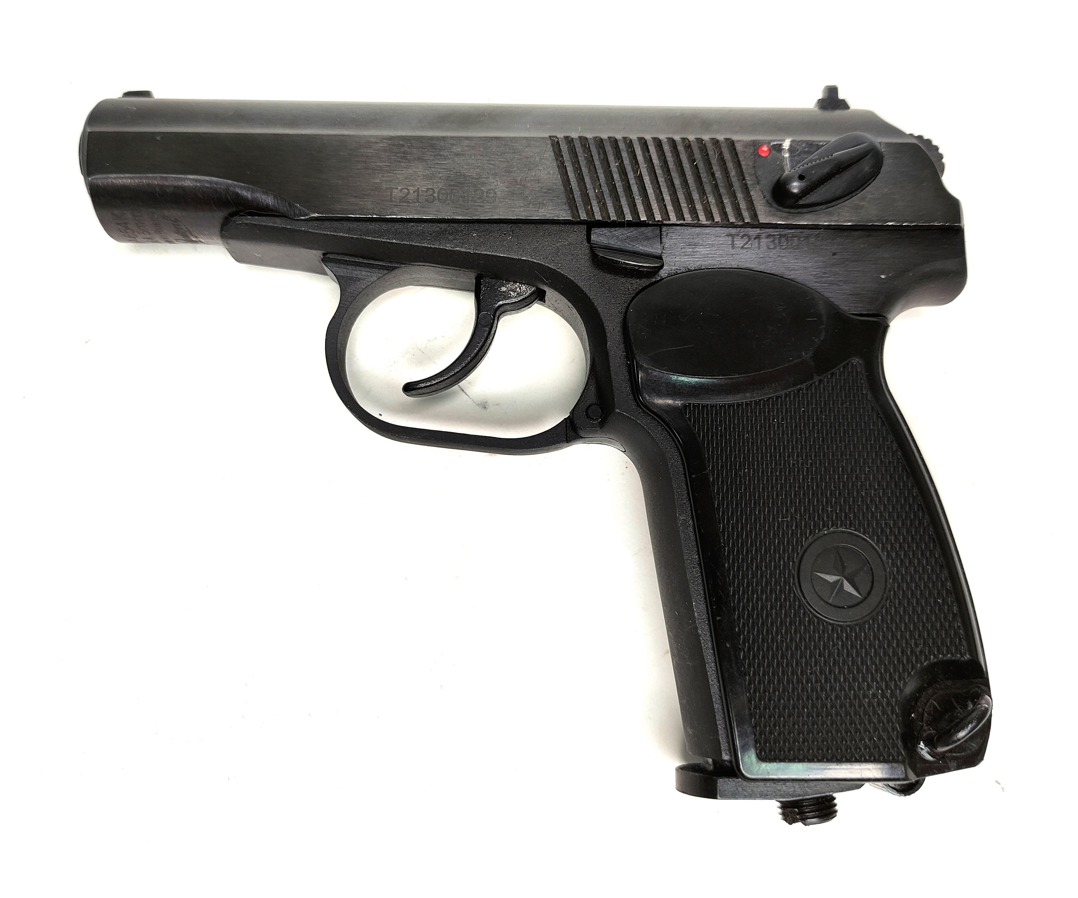 |Уценка| Пневматический пистолет МР-654К-32 (ПМ, черная рукоять) (№ 84375-180-уц)